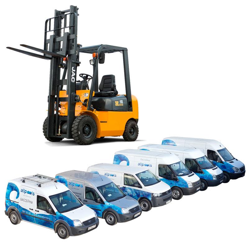 Доставка оборудования для бассейна ALLPOOLS