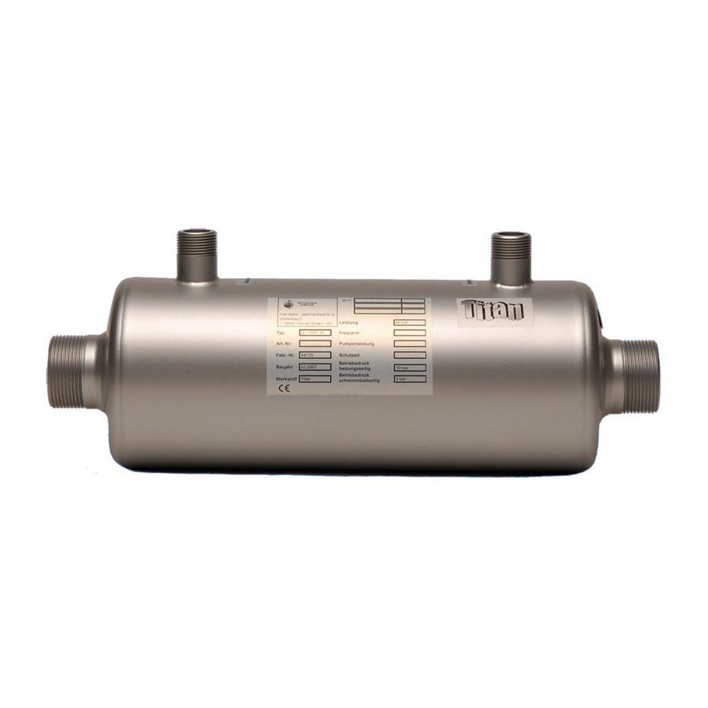 Титановый теплообменник для бассейнов теплообменник на котел нева люкс 7023 цена